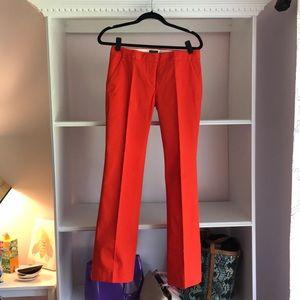 Jcrew orange stretch fit